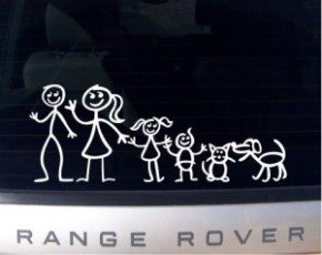 "found under Google Image search, under ""free images of stick family bumper stickers"""