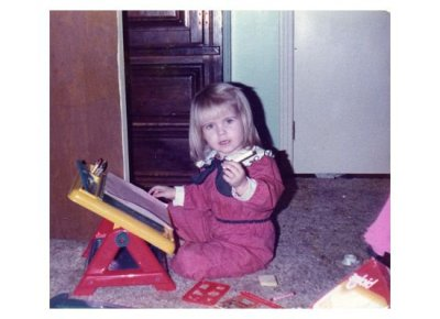 Me, writing, way before I knew what to write  :)