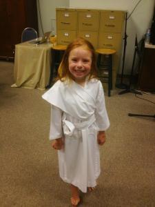 Alight, before her baptism