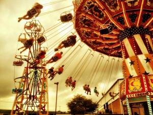 2 Favorite Rides:  Swings and Seattle Wheel @ Williamson County Fair