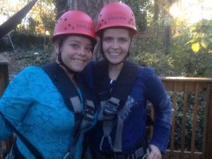 Me and Mandi rappelling and ziplining